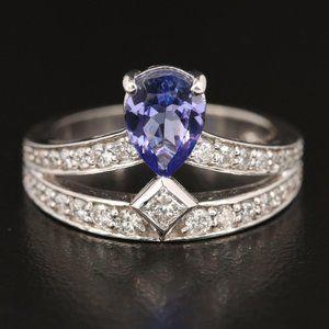$5750  EFFY / 2.5 CWT Diamond & Tanzanite Ring 14K